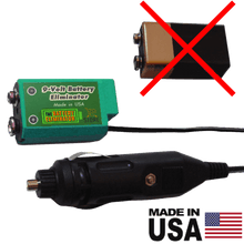 Load image into Gallery viewer, 9 Volt Battery Eliminator - 12-24 Volts DC Power Source - Battery Eliminator Store - Battery Replacement, aa battery to ac power, aaa to ac power, dc power, battery to usb, 9 volt battery to ac power, ac power adapter, 2 aa to ac power, 4 aa to ac power, 3 aaa to ac power, 9v to ac power, ac power supply adapter, cr123a, dummy cell, active cell, battery eliminator, replace battery, eliminate battery, remove battery, convert aa to ac power, 6 aa battery, 2 aa battery, 4 aa battery, 9 volt ac, 120