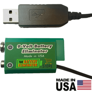 9 Volt Battery Eliminator - USB Powered - Battery Eliminator Store - Battery Replacement, aa battery to ac power, aaa to ac power, dc power, battery to usb, 9 volt battery to ac power, ac power adapter, 2 aa to ac power, 4 aa to ac power, 3 aaa to ac power, 9v to ac power, ac power supply adapter, cr123a, dummy cell, active cell, battery eliminator, replace battery, eliminate battery, remove battery, convert aa to ac power, 6 aa battery, 2 aa battery, 4 aa battery, 9 volt ac, 120v battery batter