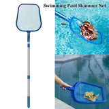 Plastic aluminum pool net rake mesh skimmer pole telescopic pools spas light fishing net water cleaning tool