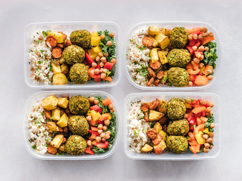 Meal prepped food containers, for The Core blog