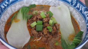 Spicy Almond Tantan Ramen with Chili Bean Ground Pork
