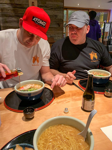 Grabbing Ramen for the First Time with the Extended Team