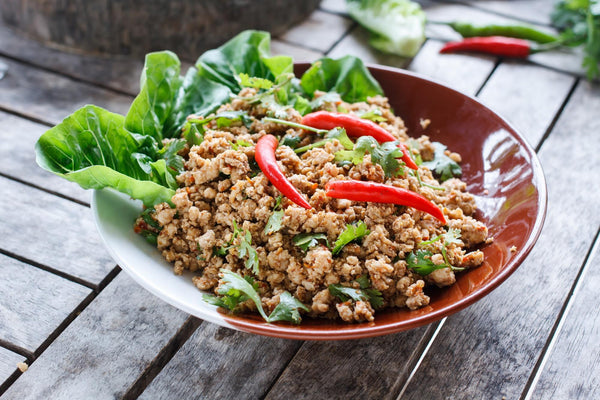 bowl of keto thai food
