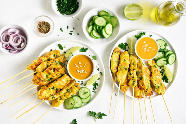keto thai food platter