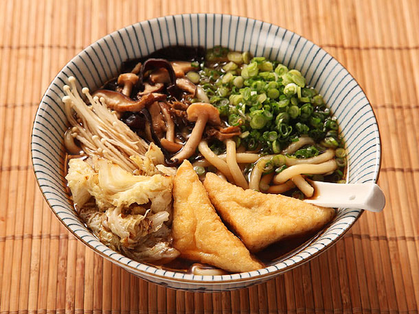 Japanese Udon With Mushroom-Soy Broth