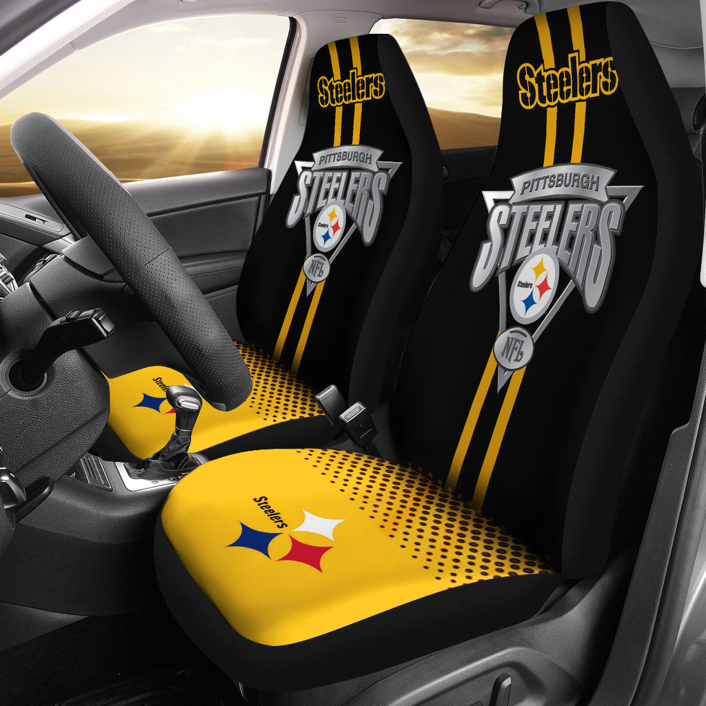 Pittsburgh Steelers Car Seat Covers Set Of 2 Merch Factory Store
