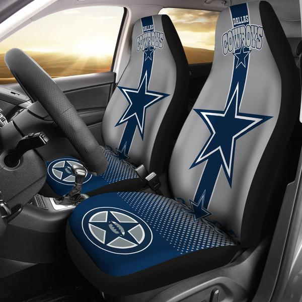 Dallas Cowboys Car Seat Covers Set Of 2 Merch Factory Store