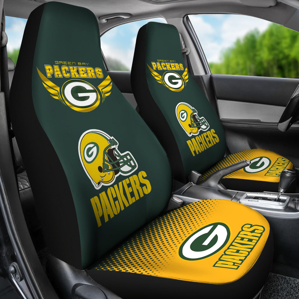 Green Bay Packers Car Seat Covers Set Of 2 Merch Factory Store