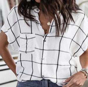 Lulunina Well Grid Bat Sleeve Shirt