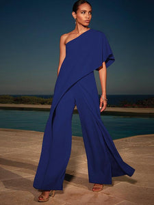 Lulunina Fashion 4 Colors Off-The-Shoulder Long Jumpsuits-NAVY BLUE-S-LuluNina.com