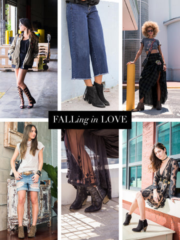 fall, mia shoes, boots, booties, velvet, leather, moto boots, embellishments, fringe, tassels