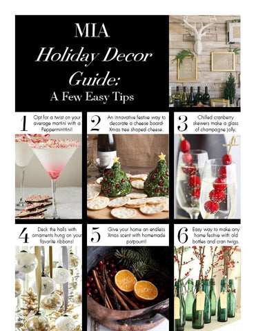 Holiday Decor List