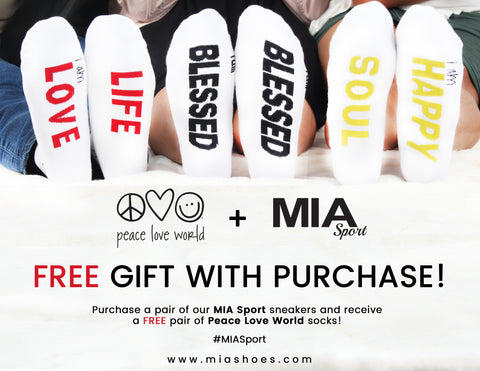 MIA Sport Peace Love World Sock Promo