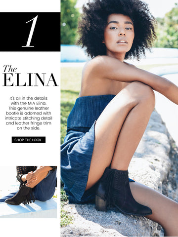 the mia elina fringe, stiched, booties
