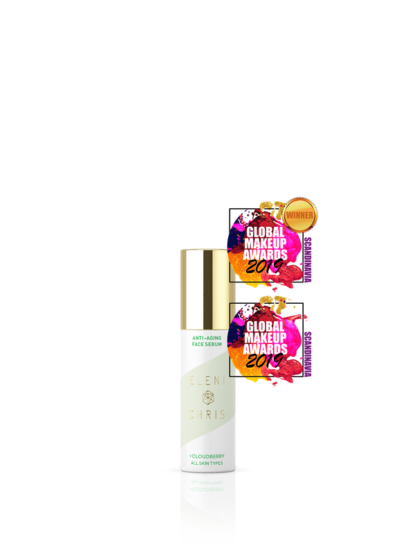 Anti-Aging Face Serum two award-winning badges