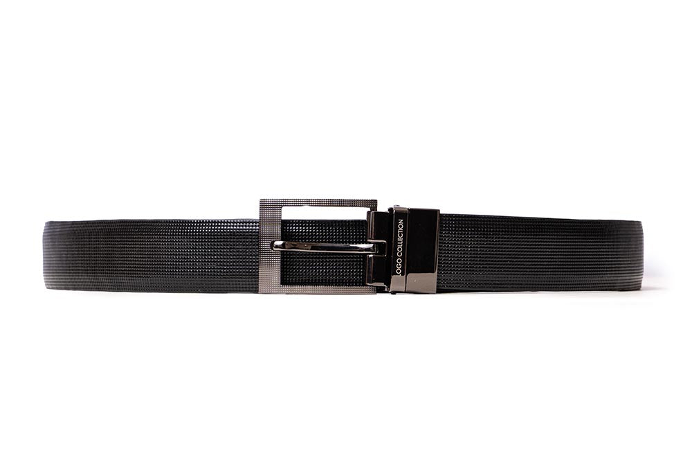 LOGO LEATHER BELT A1-223 BLACK - LOGO | OPIA