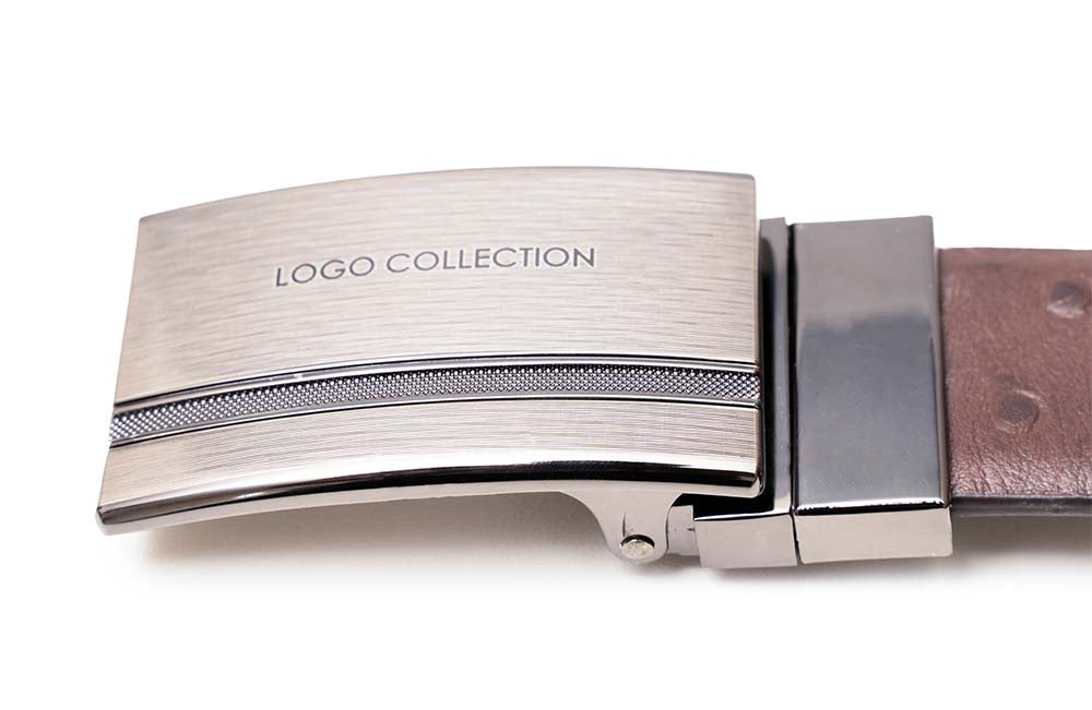 LOGO LEATHER BELT A1-233 BROWN