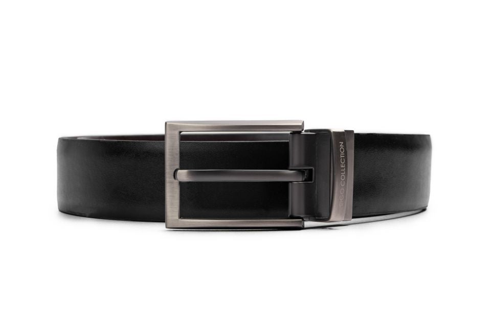 LOGO LEATHER BELT A1-235 BLACK