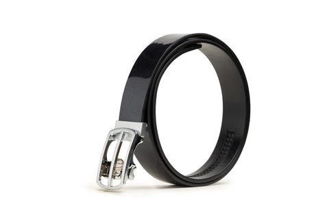 LOGO LEATHER BELT A1-238 BLACK