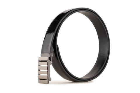 LOGO LEATHER BELT A1-255 BLACK