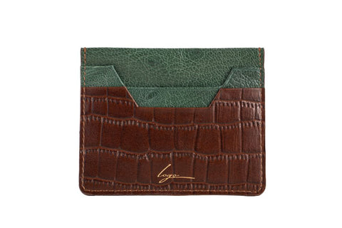 LOGO CARD WALLET CH159 BROWN