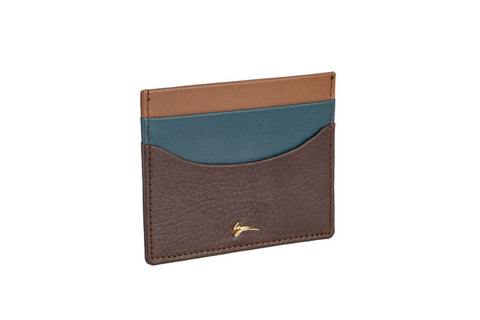 LOGO CARD WALLET CH202 BROWN
