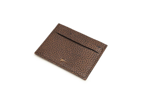 LOGO CARD WALLET CH237 BROWN