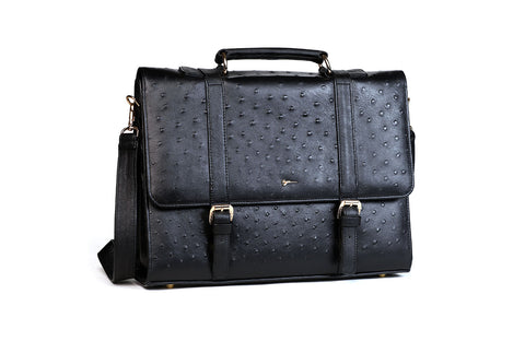 [shoes] - LOGO LEATHER OFFICE BAGS LOB001 BLACK - LOGO | OPIA