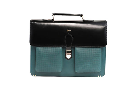 LOGO LEATHER OFFICE BAGS LOB014 GREEN