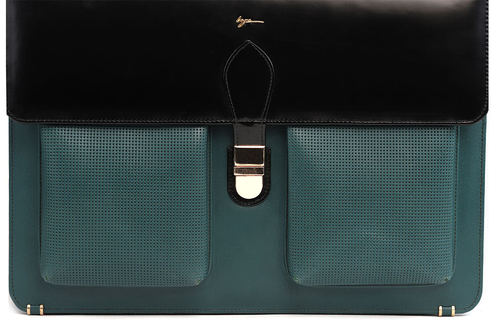 LOGO LEATHER OFFICE BAGS LOB014 GREEN - LOGO | OPIA