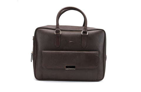 LOGO LEATHER OFFICE BAGS LOB021 BROWN