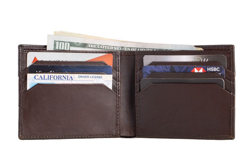 LOGO NOTE WALLET NW195 BROWN
