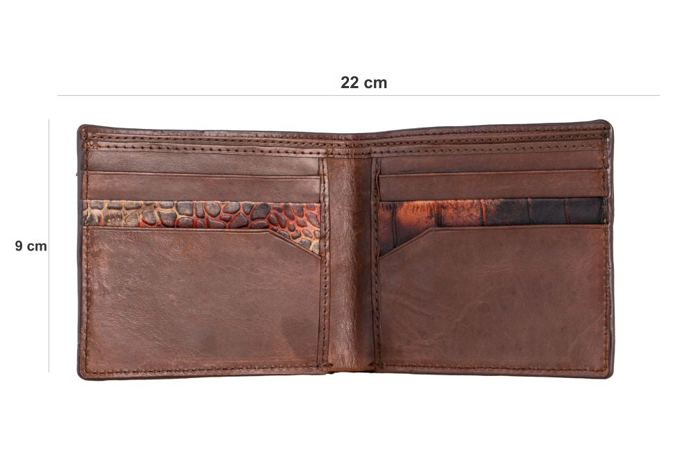 LOGO NOTE WALLET NW201-BROWN