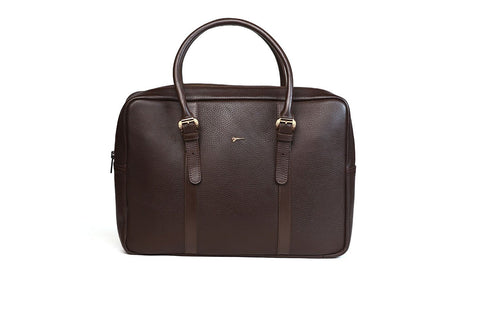 LOGO LEATHER OFFICE BAGS OB005 BRM - LOGO | OPIA