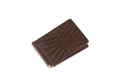 LOGO CARD WALLET PW215 BROWN