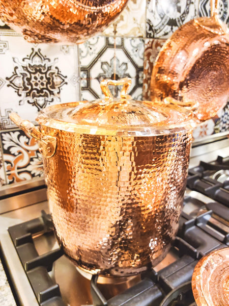 Copper Stock Pot - Amoretti Brothers