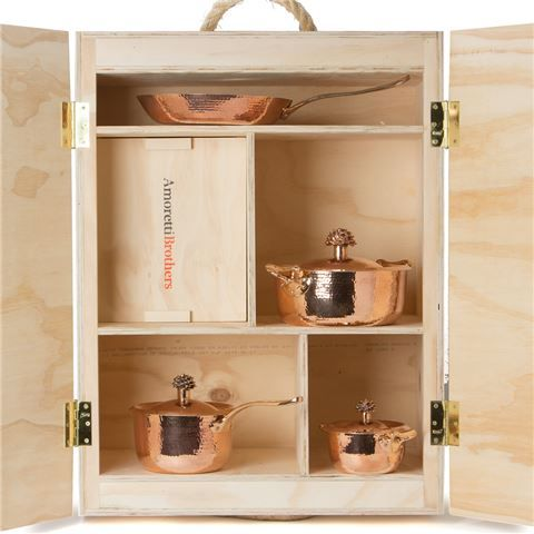 amoretti brothers signature copper cookware box