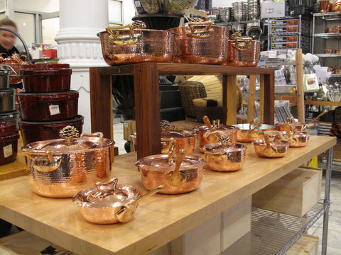 Amoretti Brothers hammered copper cookware at Dean and Deluca 2009