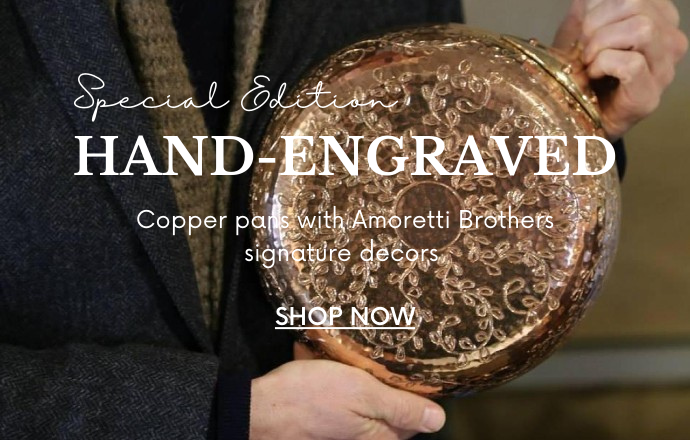 an engraved copper pan by amoretti brothers
