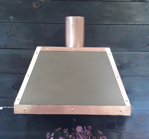 Aspen range hood Amoretti Brothers copper and iron