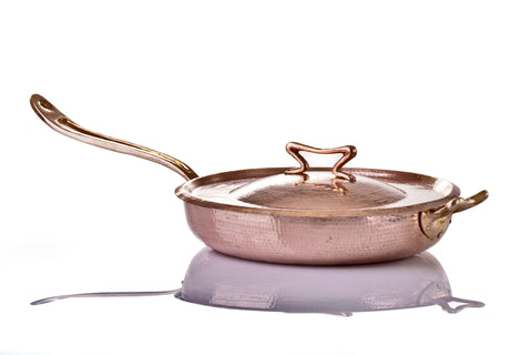 3.5 qt Copper Saute Pan with Lid - AmorettiBrothers