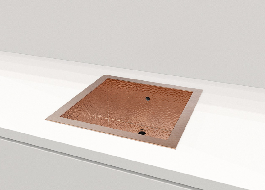"Copper Sink 17.8"" Grosseto"