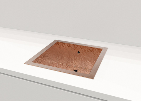 Drop-in Copper Kitchen Sink GROSSETO 17.8""