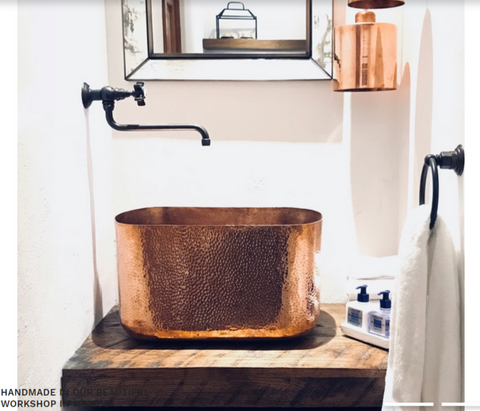 Lola Copper Bathroom Sink - AmorettiBrothers