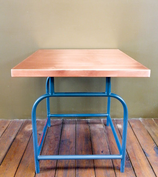 "29.5"" Square Copper Table - AmorettiBrothers"