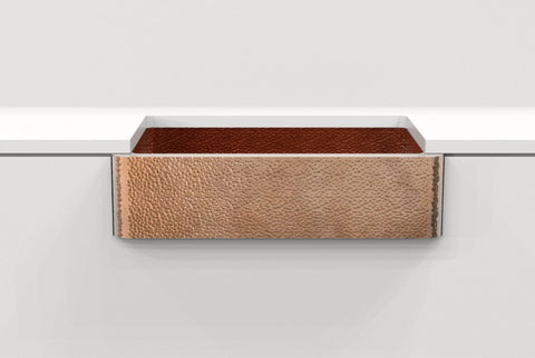 Hand-Hammered Copper Farmhouse Sink MADERO 33