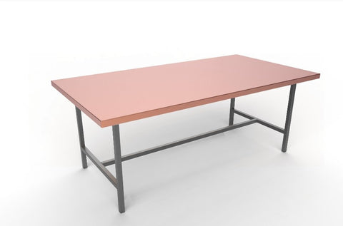 "Copper Rectangular Table 93.5"" x 47.3"" (custom) - AmorettiBrothers"