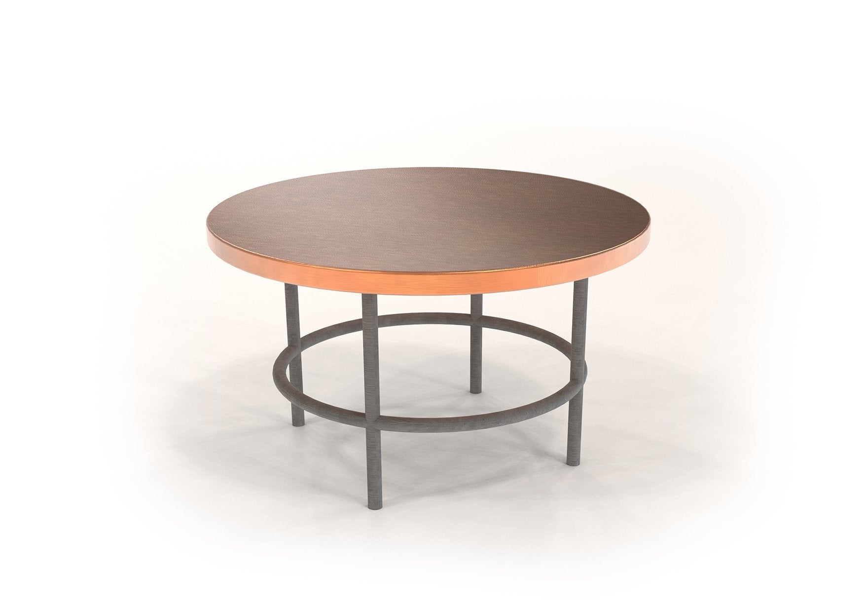 "Round Copper Table 31.5"" (custom) - AmorettiBrothers"
