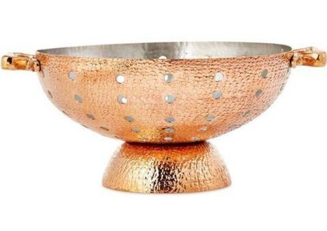 hammered copper colander amoretti brothers