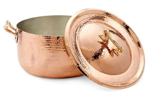 7-pcs Copper Cookware Set w Standard Lid - AmorettiBrothers